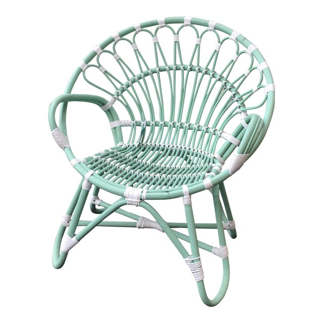 Indonesian Rattan Chair With Synthetic Rope - Image 1 of 6