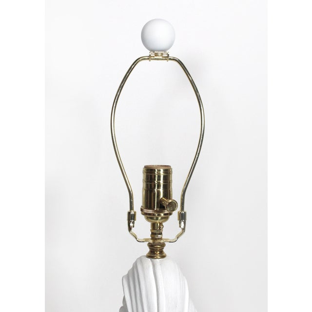 Metal 1930s Serge Roché Fully Restored Palmate Plaster Table Lamp For Sale - Image 7 of 13