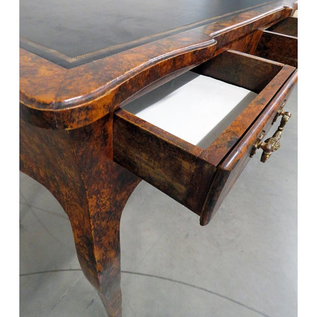 Directoire Style Leather Top Writing Desk For Sale - Image 4 of 9