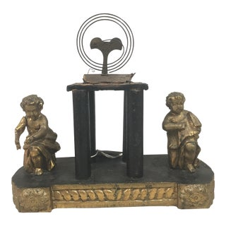 Moving Putti Gilded Clock Casing For Sale