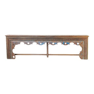 Late 20th Century Indian Wooden Console With Carvings