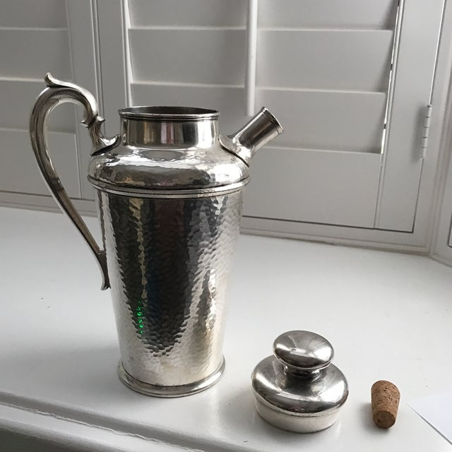 International Silver Co. Hammered Cocktail Shaker - Image 4 of 10