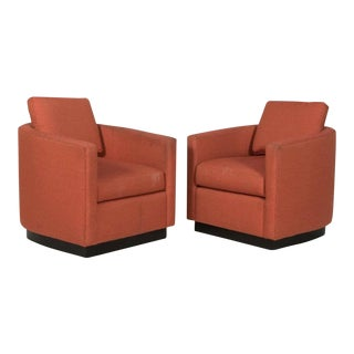 Maurice Villency Club Chairs - a Pair For Sale