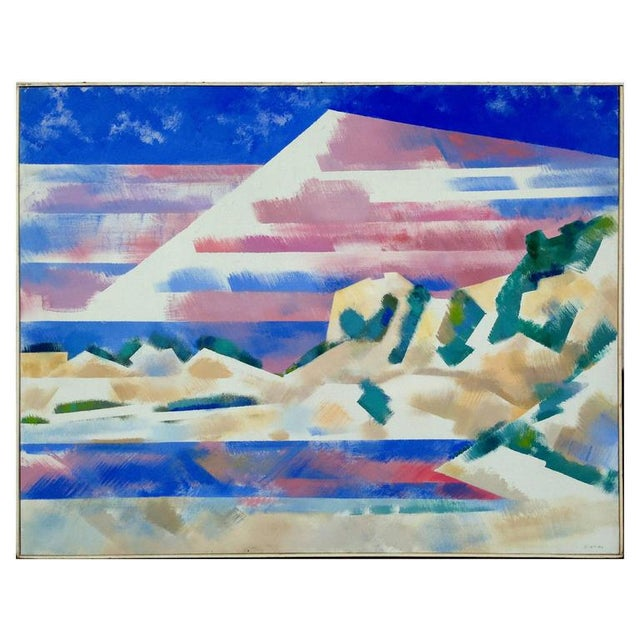 Abstract Mountains and High Desert Painting by Erle Loran For Sale - Image 3 of 3