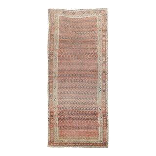 Vintage Mid Century Brown Wool Rug For Sale