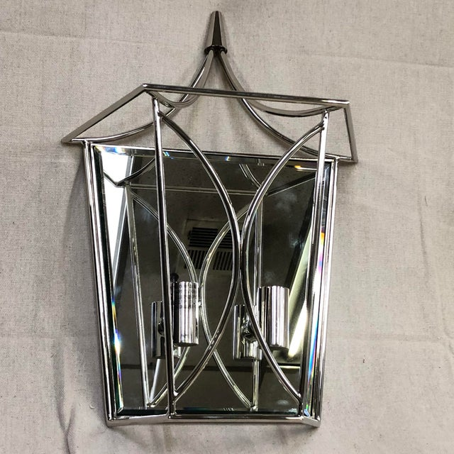 Silver Kate Spade New York Cavanagh Medium Lantern Sconce For Sale - Image 8 of 8