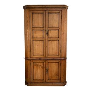 18th Century Georgian Pine Corner Cabinet, Ireland For Sale