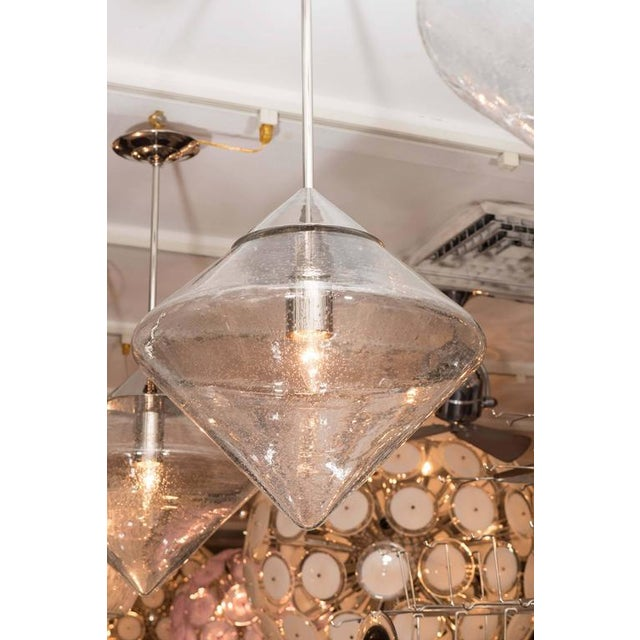 Venfield Pendants with Prism Globes For Sale - Image 4 of 6