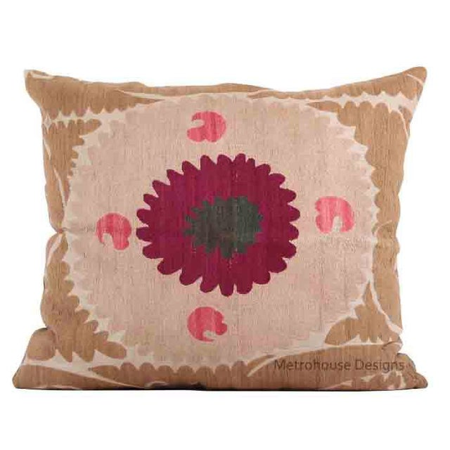 Vintage Cotton Embroidered Gulkurpa Pillow - Cover Only. For Sale - Image 4 of 4