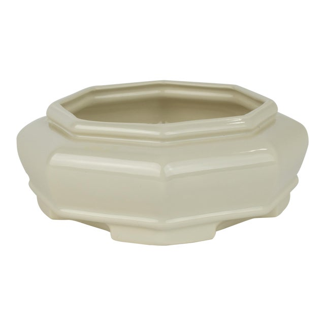 Off White Haeger Octagon Planter Chairish