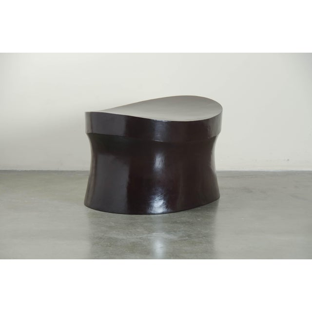 Contemporary Black Copper Saddle Seat Hand Repousse Drumstool by Robert Kuo, Limited Edition For Sale - Image 3 of 5