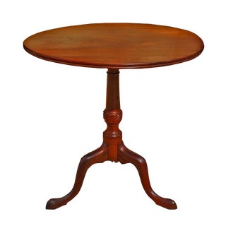Late 18th Century Vintage English Georgian Mahogany Tilt Top Table For Sale