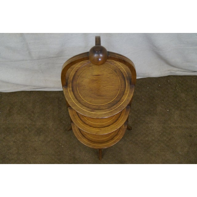 Brown Biggs Mahogany Regency Style 3 Tier Muffin Stand For Sale - Image 8 of 10