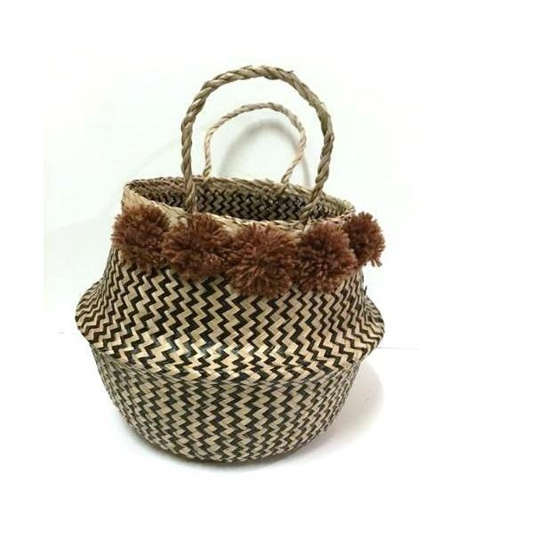 Large Sea Grass Belly Basket - Image 3 of 4