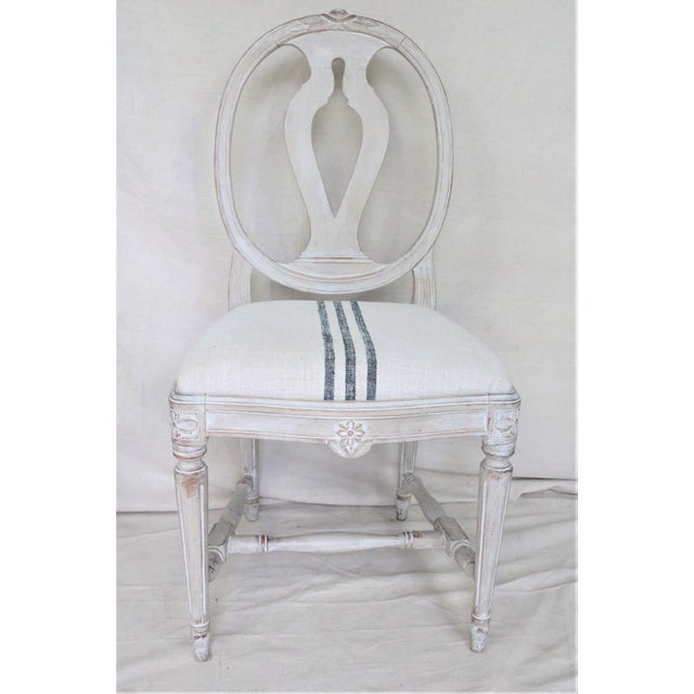 Mid 19th Century Swedish Gustavian Dining Chairs, Set of 6 For Sale - Image 4 of 13