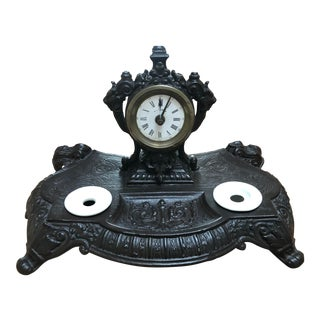 Ink Well With Clock For Sale