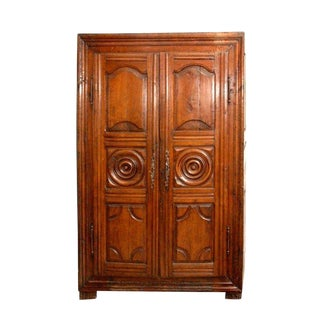 French Cherry Wood Armoire For Sale