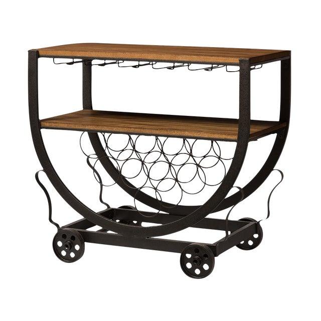 Industrial Wine Cart - Image 1 of 3