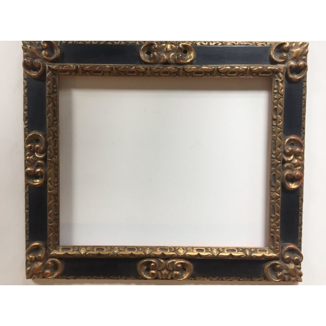Great Vintage Picasso Style Carved Wood Frame - Image 2 of 7