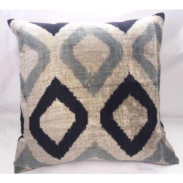 Silk Velvet Ikat Pillow - Image 2 of 3