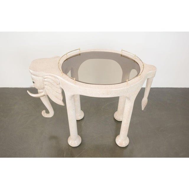 Late 20th Century Marge Carson Elephant Bar Rolling Table For Sale - Image 5 of 9