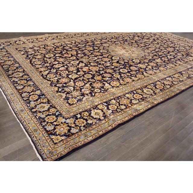 "Islamic Apadana Kashan Rug - 10'2"" X 16'6"" For Sale - Image 3 of 5"