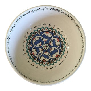 Altin Gini Handpainted Ceramic Bowl From Turkey For Sale