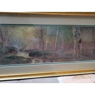 Early 20th Century Antique d.f. Hasbrouck Forest Scene Watercolor Painting Preview