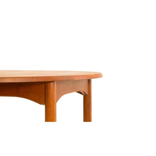 Teak Arne Vodder Sibast - Mid- Century Solid Teak Dining Table With 2 Leaves. For Sale - Image 7 of 12