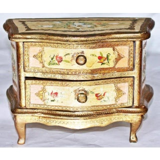 1960s Italian Venetian Painted Miniature Commode Chest Preview