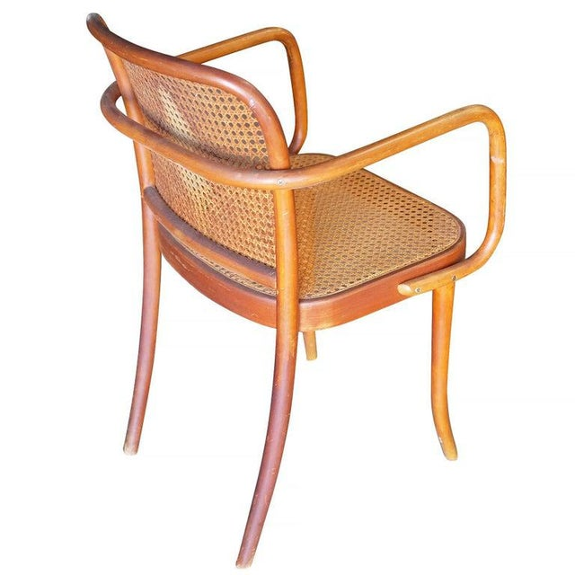 Early 20th Century Josef Hoffmann for Stendig Bentwood Cane Dining Chairs, Set of Six For Sale - Image 5 of 7