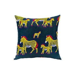 Zebra Pride Wax Print Pillow - Pair