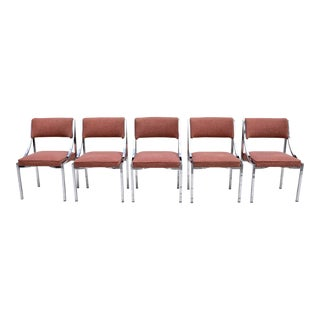 Wolfgang Hoffman Chrome Dining Chairs