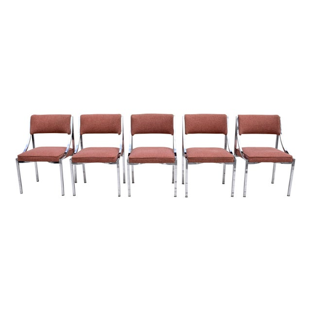 Wolfgang Hoffman Howell Chrome Dining Chairs For Sale