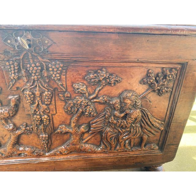 Wood Late 18th Century Italian Carved Trunk Miniature For Sale - Image 7 of 13