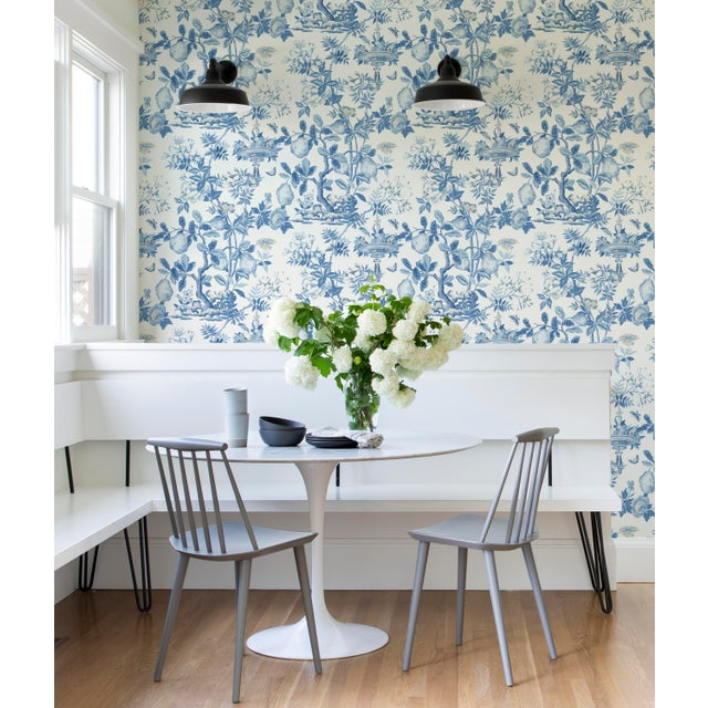 Peel & Stick vinyl wallcovering.6 yd, 30.75 square feet. Originally reproduced from an early 20th century French block...