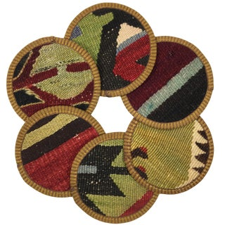 Kilim Coasters Set of 6 | Hacıhüsnü For Sale