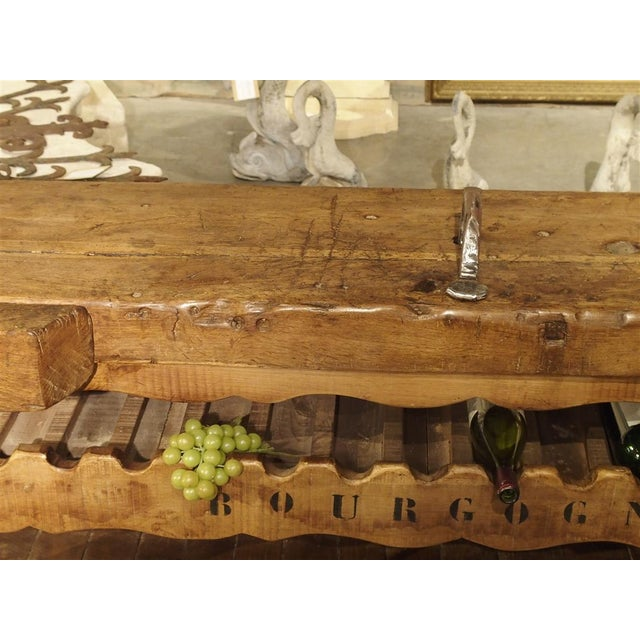 """Antique """"Bourgogne"""" French Wine Carrier Converted From a Workbench For Sale In Dallas - Image 6 of 13"""