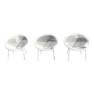 1960s Maurizio Tempestini for Salterini Hoop Radar Chairs - Set of 3 For Sale