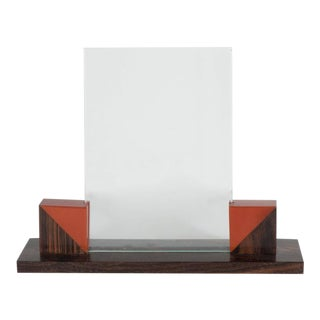 Art Deco Picture Frame in Bookmatched Macassar with Bakelite Detailing