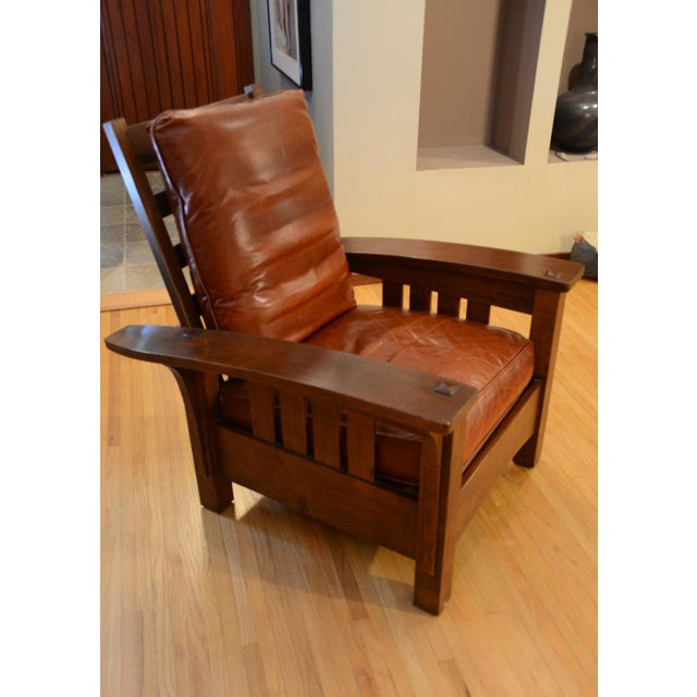 Stickley Stickley Bow Arm Morris Chair For Sale - Image 4 of 4