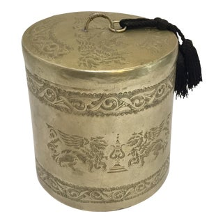Turkish Metal Box With Lid For Sale