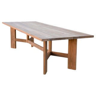 Country Indoor or Outdoor Dining Table Made From Teak For Sale