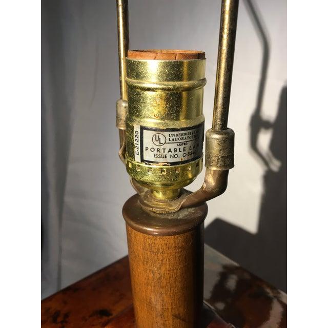 Brown Oversized Amber Ginger Jar Lamp For Sale - Image 8 of 10