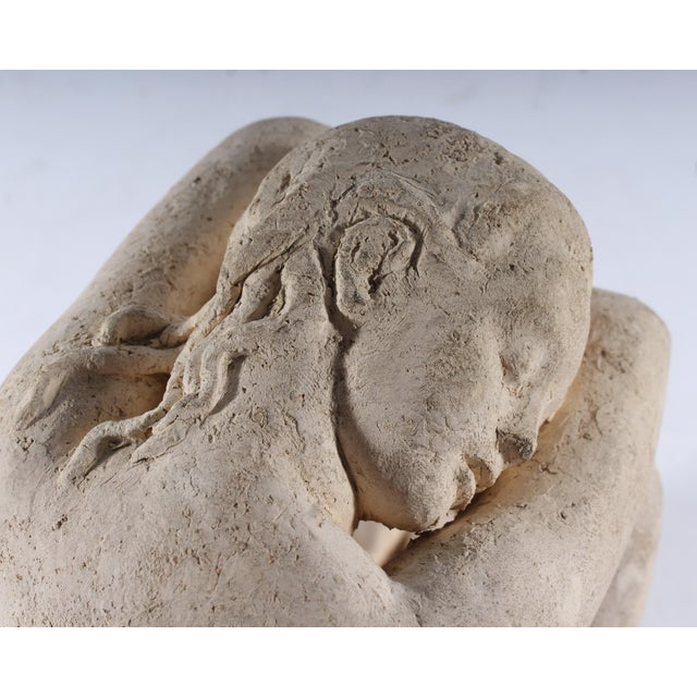 Henri Albert Lagriffoul Signed Clay Sculpture of a Nude Woman For Sale - Image 10 of 13