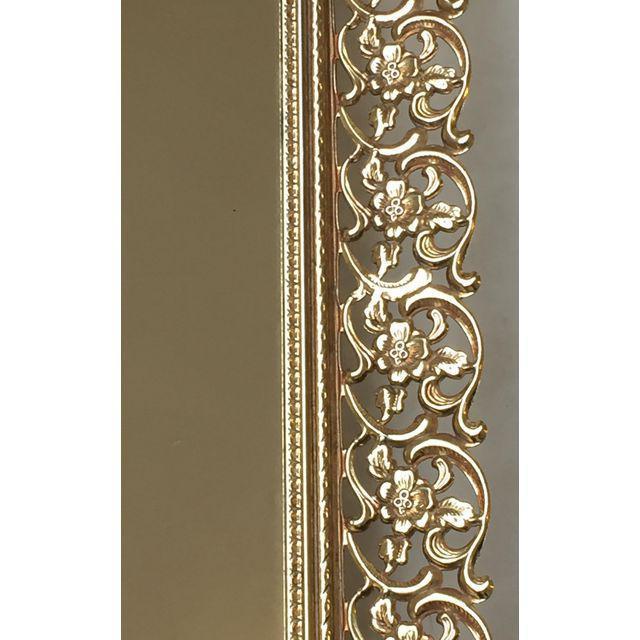 Rectangular Filigree Detail Vanity Mirrored Tray - Image 5 of 5