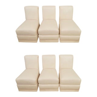 High Back Upholstered Dining Chairs - Set of 6