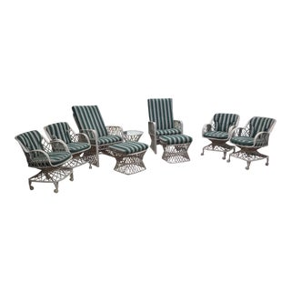 Vintage Russell Woodard Patio Furniture - Set of 9 For Sale