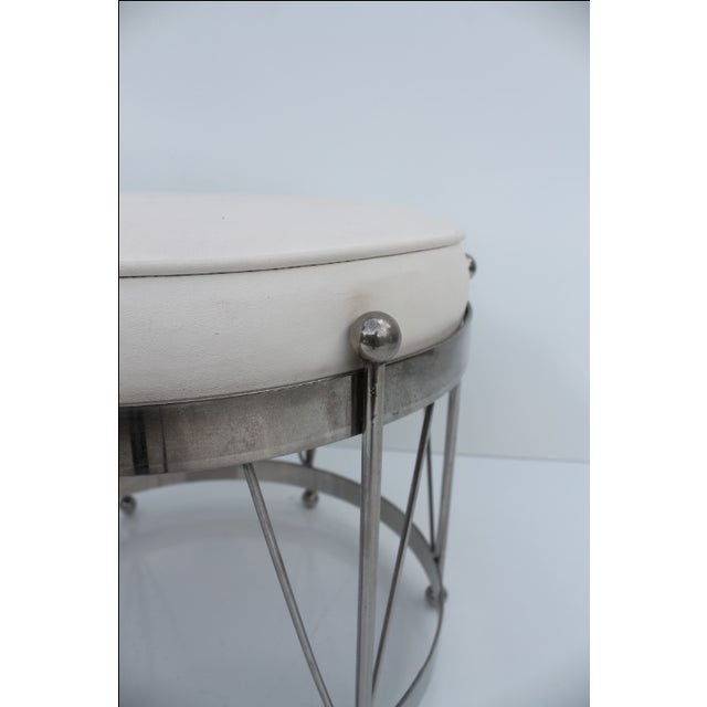 George Koch Mid-Century Vinyl & Chrome Drum Stool For Sale - Image 11 of 11