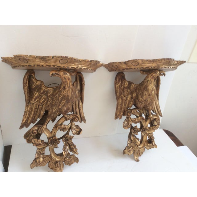 Metal Chippendale Style Wood Wall Sconces - a Pair For Sale - Image 7 of 8